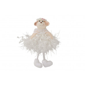 Cute White Ballerina Tutu Sheep Hanging Decoration