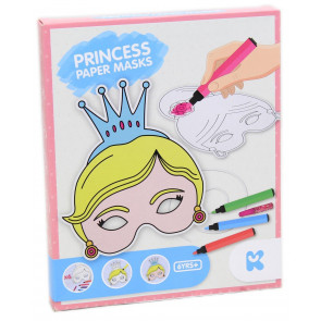 Pack Of 6 Princess Paper Mask Creative Art Set For Children
