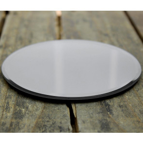 Round Glass Mirror Coaster Candle Plate Stand 12Cm