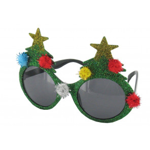 Novelty Christmas Tree Sunglasses Green