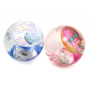 Trolls Light Up Glitter Bouncy Ball - Sparkly Flashing Hi-Bounce Ball