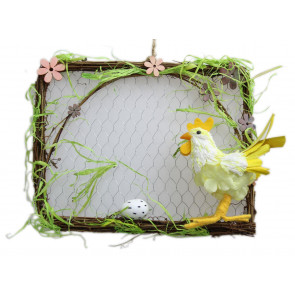 Hanging Chicken Hen And Egg Easter Egg Wall Plaque Decoration