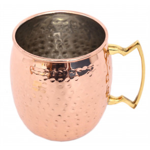 Stunning Stainless Steel Hammered Copper Effect Moscow Mule Mug ~ Cocktail Cup