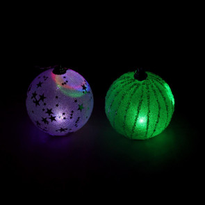 Light Up Colour Changing LED Glitter Balloon Christmas Tree Bauble - Designs Vary