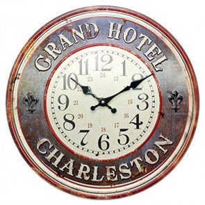 40Cm Metal Grand Hotel Charleston Kitchen Dining Wall Clock ~ Blue