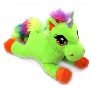 Snuggle Pals Plush Rainbow Unicorn Soft Toy ~ Green