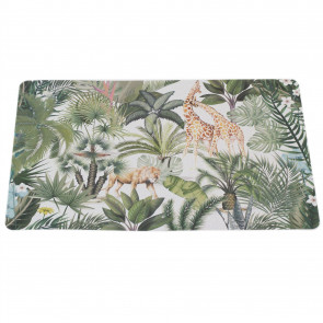 Jungle Animal Kitchen Dining Place Mat - Single Safari Placemat - Tropical Dinner Table Protection Mat - Lion