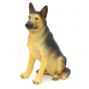 Charming Dog Figurine Statue Ornament ~ Resin Sculpture Animal Decoration ~ German Shepherd Dog