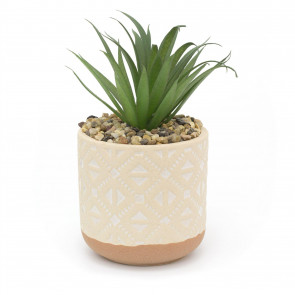 Kasbah Artificial Succulent Potted Plant | Faux Plant And Ceramic Planter | Fake House Plant Home Decor - Design Varies One Supplied