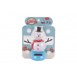 Dancing Solar Snowman Christmas Decoration