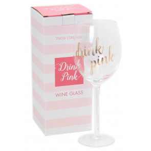 Drink Pink Gift Boxed Rosé Wine Glass ~ Drink Pink