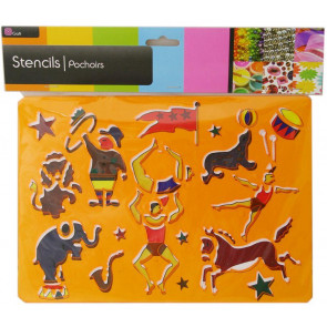 Art And Craft Stencil For Kids - Circus