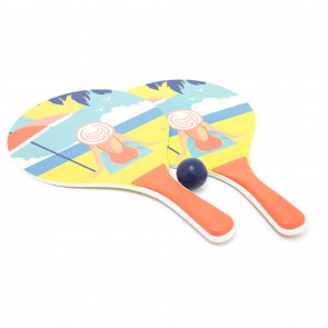 South Beach Outdoor Boom Paddle Bat and Ball Game Set - Design Varies - One Supplied