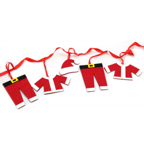 Father Christmas Santa Clothes Line Bunting Garland Banner Xmas Decoration