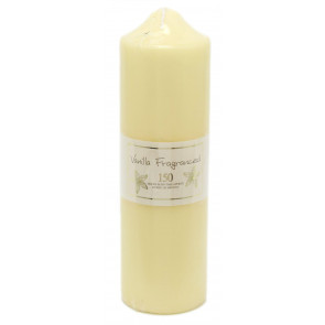 24 x 7cm 150 Hour Overdipped Vanilla Scented Pillar Votive Wax Candle Cream