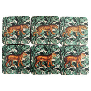 Pack Of 6 Stunning Safari Coasters For Drinks ~ Coffee Table Mats