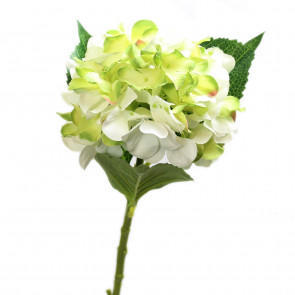 Beautiful Single White Hydrangea Head Artificial Flower Arrangement