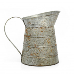 Lovely Vintage Metal Pitcher Jug ~ Rustic Flower Vase