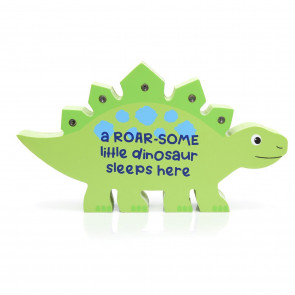 Children's Wooden Dinosaur Decorative LED Bedroom Table Light ~ Green