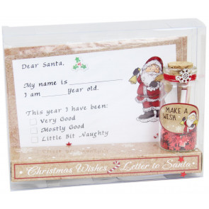 Christmas Letter To Santa and Make A Wish Jar Gift Set