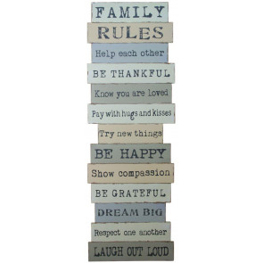 Family Wall Plaque ~ Laugh Out Loud Wooden Sign