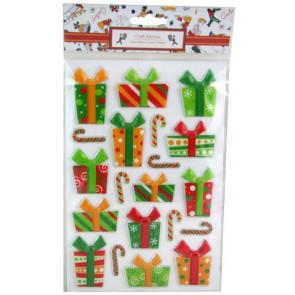 Christmas Craft Assorted Pop Up Sticker Sheet - Xmas Gifts