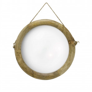 56cm Large Wall Mirror With Rope | Round Bathroom Mirror Nautical Circle Wall Mirror | Wooden Wall Hanging Porthole Mirrors