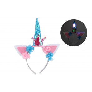 Cloud Nine Magical Flashing Unicorn Horn Headband Party Dressing Up Accessory
