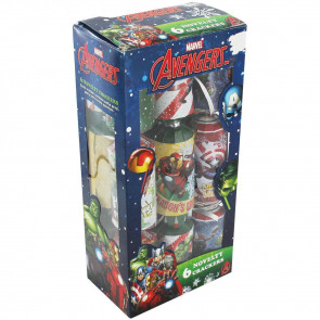 Marvel Avengers Christmas Table Crackers - Pack Of 6 Iron Man, Incredible Hulk and Captain America Novelty Party Crackers