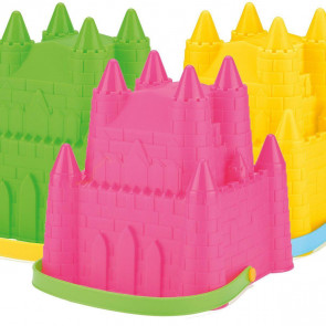 Plastic Neon Princess Sand Castle Beach Bucket Toy ~ Colour Vary