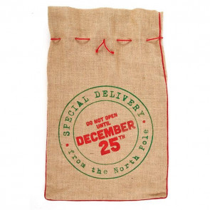 Jute Hessian Christmas Present Sack Gift Bag Large ~ Do Not Open