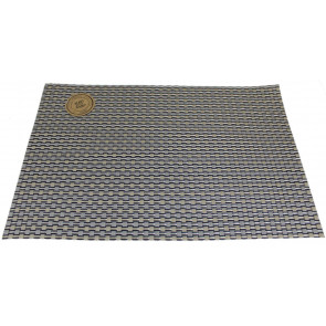 Wipe Clean PVC Woven Dining Table Place Mat Single ~ Gold Placemat