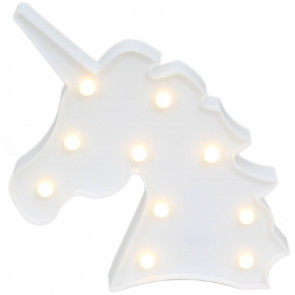Unicorn LED Night Light Kids Mood Lighting Wall Hanging Decoration - White