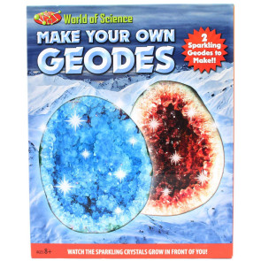 World Of Science Make Your Own Geodes Geology Set For Children ~ Colour Vary