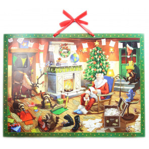 Deluxe Traditional Card Advent Calendar Large - Santa's House