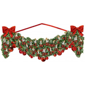 Deluxe Traditional Card Advent Calendar Large - Victorian Christmas Garland