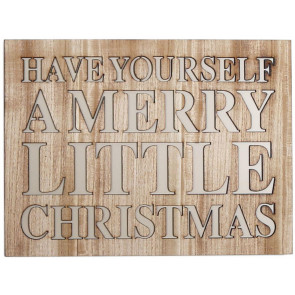 Cut Out Word Phrase Hanging Wooden Christmas Sign Plaque ~ Have Yourself
