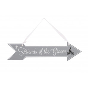 Friends Of The Groom Wooden Hanging Sign ~ Wedding Decoration