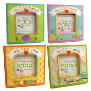 Cupcakes And Cartwheels My First Set of 4 Freestanding Photo Frames