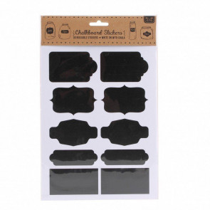 30 Pack Craft Wedding Baking Reusable Self Adhesive Chalkboard Stickers