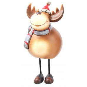 Resin Figurine Christmas Character Standing Decoration - Reindeer