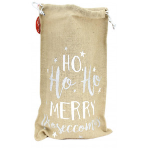 Hessian Santa Father Christmas Present Gift Sack Bag ~ More Prosecco