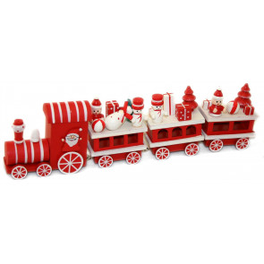 Santas Holiday Express Wooden Christmas Train Ornamental Decoration