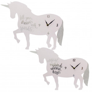Magical Unicorn Design Decorative Wall Bedroom Nursery Clock ~ Design Varies