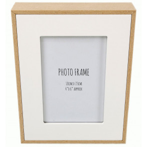 White Wood Edge Photo Frame 4 X 6