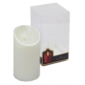 Battery Powered Light Up LED Pearl Flickering Flameless Christmas Candle