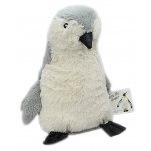 Take Me Home Plush Penguin Doorstop ~ Decorative Door Stop Grey