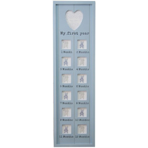 76 X 22 Dusky My First Year Photo Frame ~ Blue