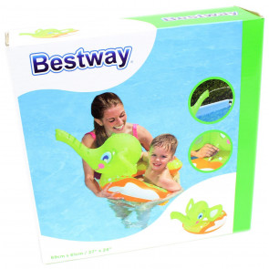 Bestway Elephant Squirter Spray Inflatable Swimming Pool Swim Ring Float ~ Green