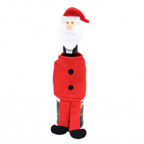 Felt Fabric Novelty Christmas Wine Bottle Cover Table Decoration - Santa